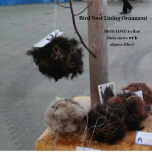 Alpaca Fiber Bird Nest Lining Ornament