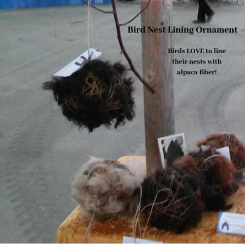 alpaca fiber bird next lining ornament