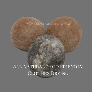 hypo-allergenic alpaca dryer balls - set of 3