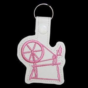 spinning wheel key ring - pink