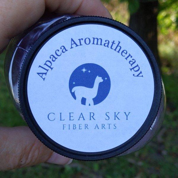 alpaca aroma therapy jar label