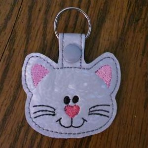 Purrfect Cat Face Key Ring