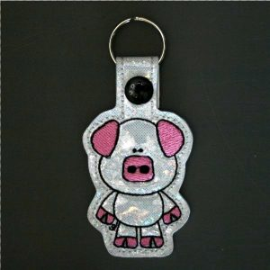 Little Standing Pig Key Ring
