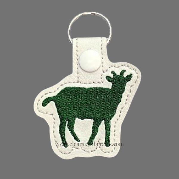 green goat key fob/ring