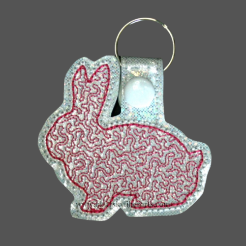rabbit key ring - red