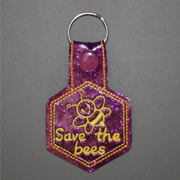 save the bees key ring
