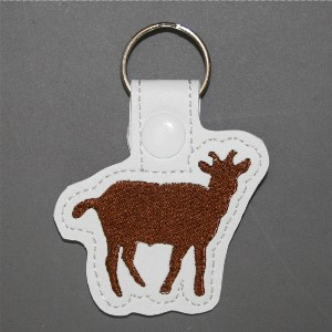 key ring - cute goat in a brown color