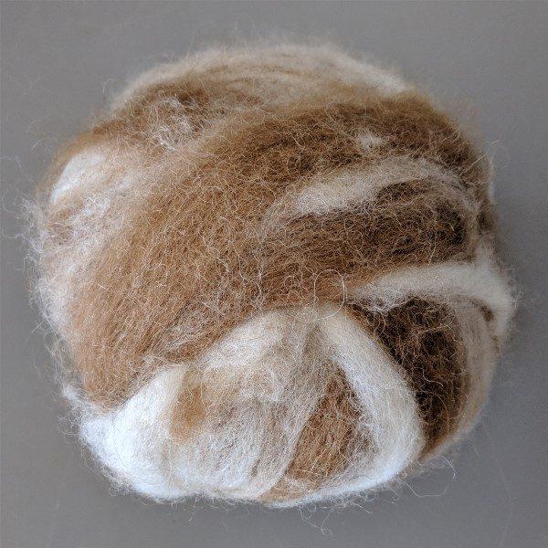 alpaca fiber - huacaya and suri swirled alpaca roving