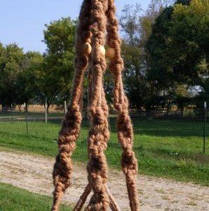 Beaded Alpaca Plant Hanger