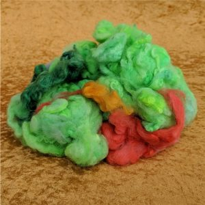 Green Felting Spinning Fiber