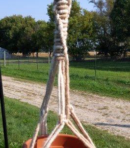 Beige Alpaca Plant Hanger