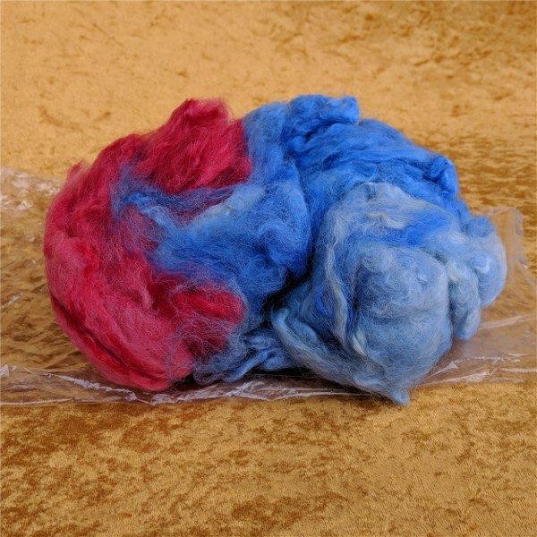 blue felting spinning fiber package 2oz