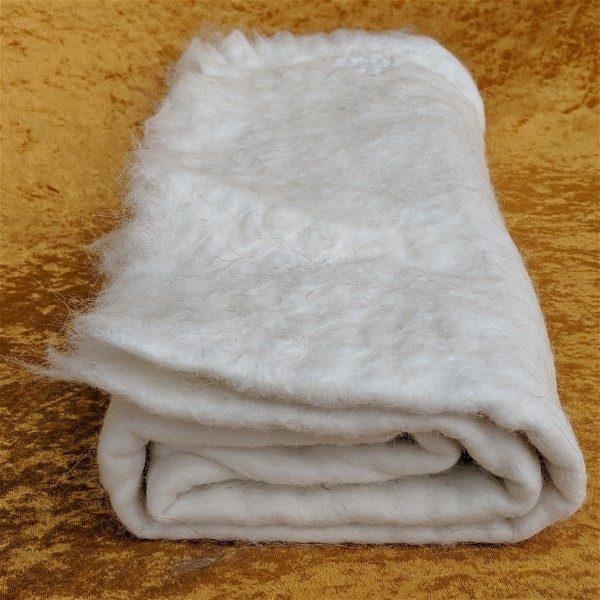 alpaca felted craft sheet using Queenie's fiber