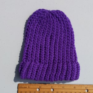 Merino Purple Baby Hat