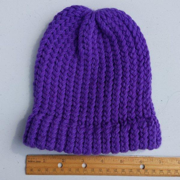merino wool purple hat = child size