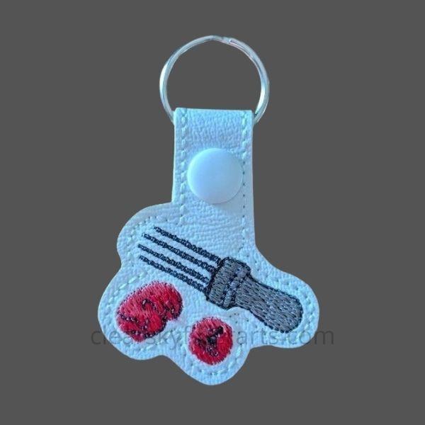 needle felting key ring