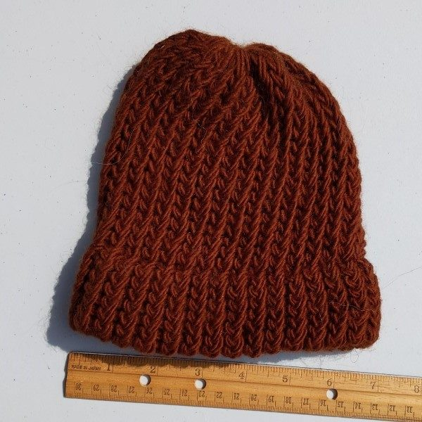 wool mohair brown hat - child size