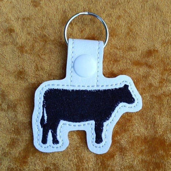 black cow keyring
