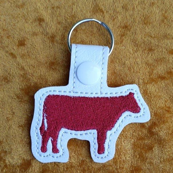 red cow key ring