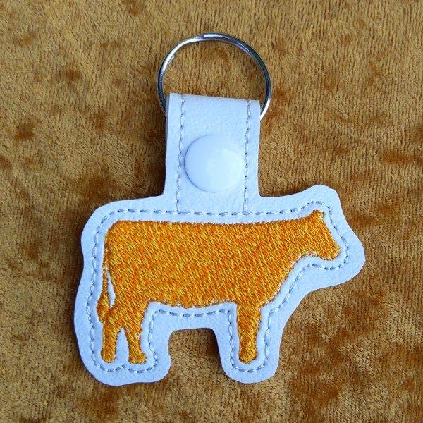yellow cow key ring
