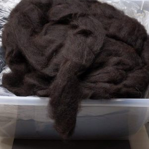 Black Alpaca Roving – Polly