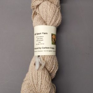 Natural Beige Alpaca Yarn – Carbon Copy