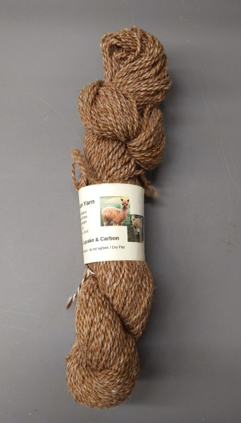 tweed colored 100% alpaca yarn from Cupcake and Carbon Copy