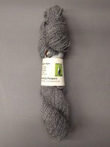 100% gray alpaca yarn from Peepers