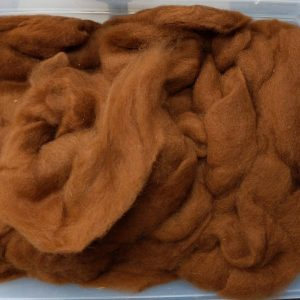 coppers brown alpaca roving