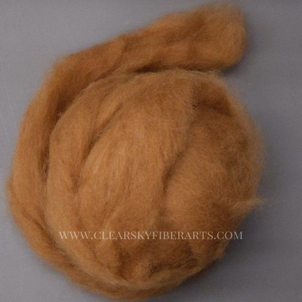 brown alpaca roving