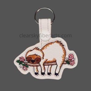 Hanging Sloth Key Ring