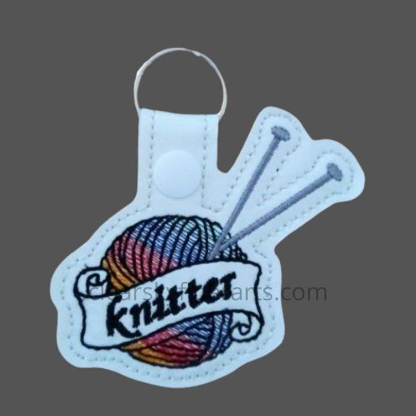 knitter key ring - rainbow