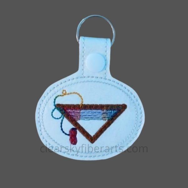 tri loom key fob - rainbow color