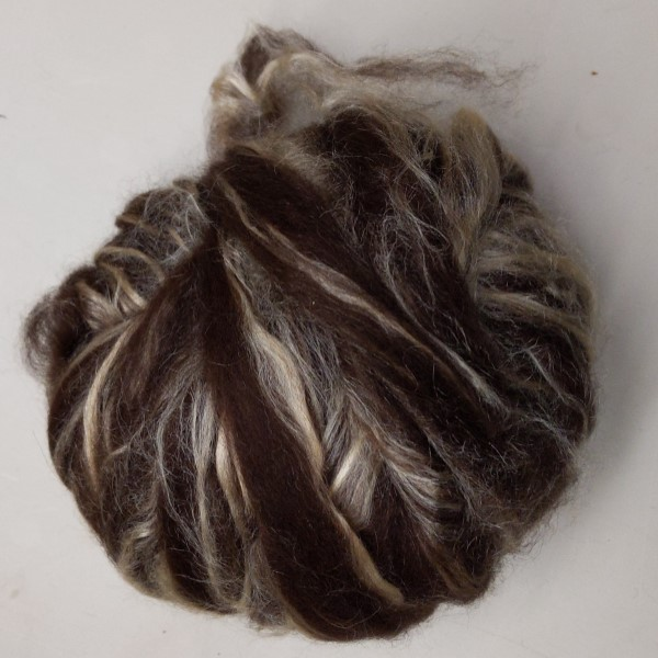alpaca roving blended with tussah silk