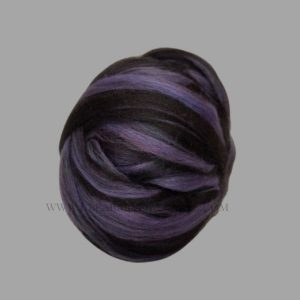 Mint Black Purple Roving