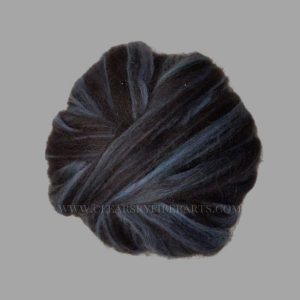 Mint Black Alpaca Roving