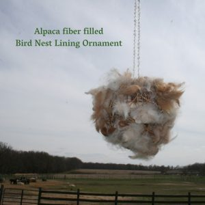 Alpaca Fiber Bird Nest Lining Ornament