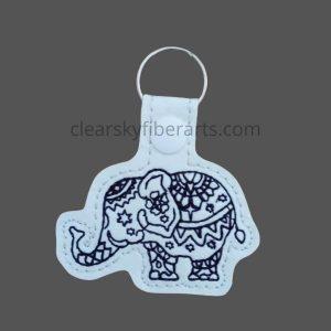 Elephant Mandala Key Ring