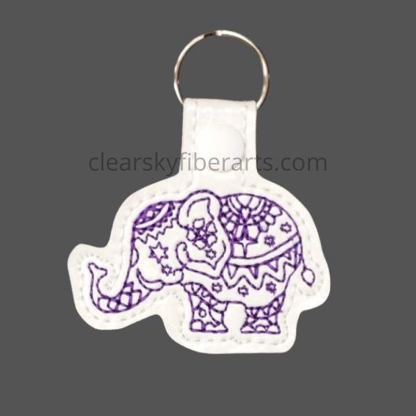 elephant mandala key ring/fob