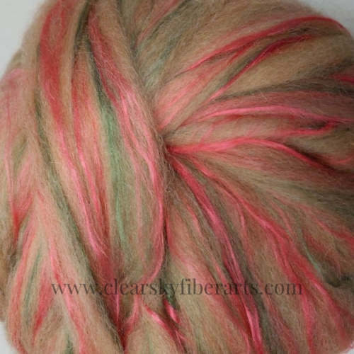 pin drafted roving from Coppertop the alpaca