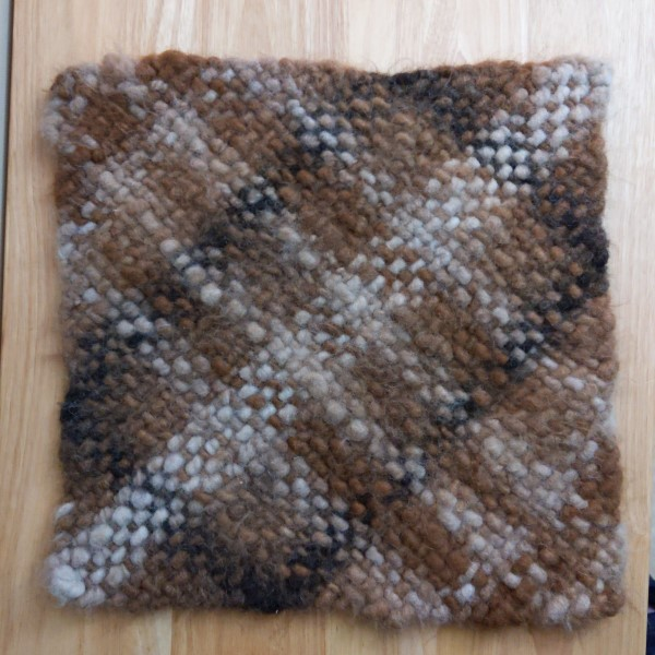 alpaca fiber hand woven cat mat where cats nap