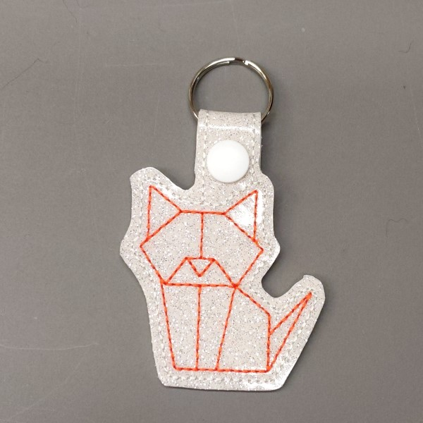 origami cat key ring - orange