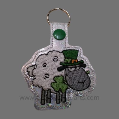 Irish Sheep key fob