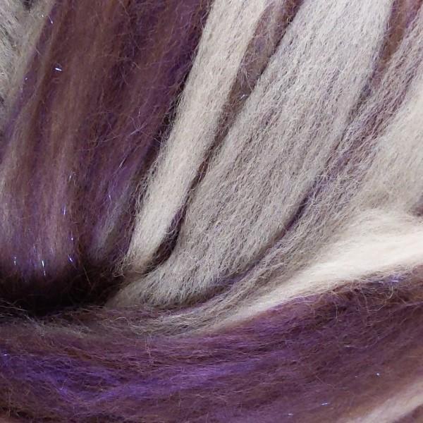 purple roving - alpaca fiber with merino and bamboo