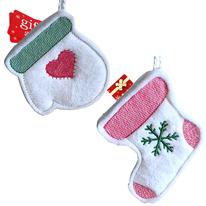 stocking gift card holder made of home grown alpaca fiber
