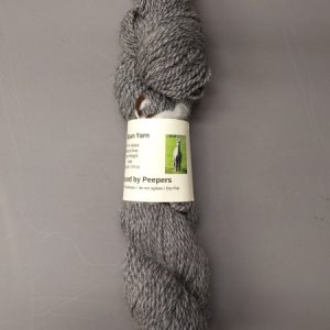 100% gray alpaca yarn from Peepers